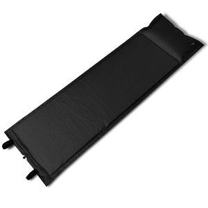 dereoir Selbstaufblasende Luftmatratze Schwarz 185x55x3cm (Einzelmatratze)