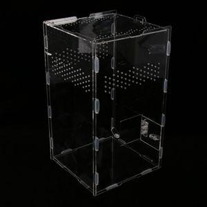 Kunststoff Reptilienbehälter Fütterungsbox Transportbox für Spinne Eidechse Frosch