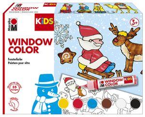 "Marabu KiDS Window Color Set ""Christmas"" 6 x 25 ml"