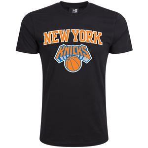 New Era - NBA New York Knicks Team Logo T-Shirt - Schwarz : 4XL Schwarz Farbe: Schwarz Größe: 4XL