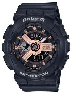 Baby-G Damenuhr Armbanduhr BA-110RG-1AER schwarz