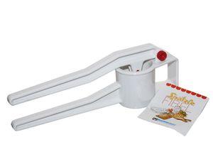 Buchsteiner Spätzlepresse Spätzlewunder mit Spätzlefibel, 37cm, Kunststoff, Einhandbedienung, Dichtungsring gegen Überlaufen, zerlegbar, feine Lochung