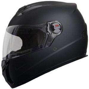 Motorradhelm Integralhelm M61 Helm Größe M Rollerhelm Sturzhelm matt schwarz Visier klar