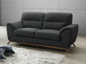 2-Sitzer-Sofa Microfaser YASMINE - Anthrazit