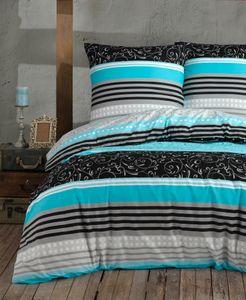 Bettwäsche Bettbezug 200x220 cm, 2 x Kopfkissenbezüge 80x80 cm 3 teilig Bettgarnitur Bettbezüge - Set Baumwolle Renforcé mit Reißverschluss