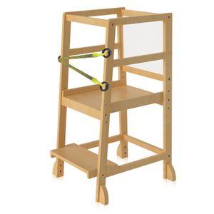 Zehnhase Küchen-Tritthocker für Kinder, Tritthocker aus Bambus mit verstellbarer Standplattform, Lernturm für Baby & Kleinkinder
