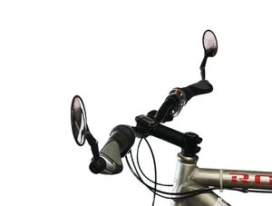 2x Fahrrad Rückspiegel Fahrradspiegel Lenkerspiegel Konvexspiegel Innenklemmung