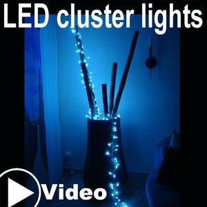 144 LED Lichterkette Cluster Lights Kaltweiß