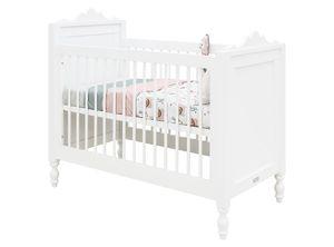 Babybett Belle Weiß 60x120cm, Lattenrost höhenverstellbar, Bopita