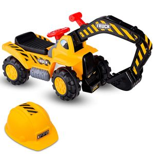 COSTWAY Sitzbagger Kinderbagger Bagger Spielzeug Sandbagger Rutscher Bagger Schaufelbagger