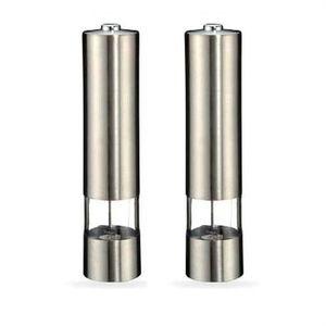 2er Set Elektrische Design Pfeffermühle | Salzmühle | Gewürzmühle | Mühle