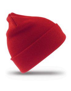 Kinder Mütze Woolly Ski Hat / Robustes Strickgewebe - Farbe: Red - Größe: One Size