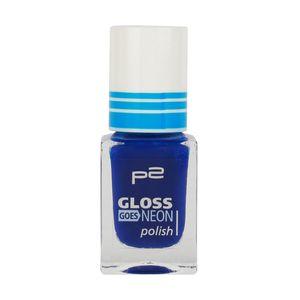 P2 Nägel Nagellack Nagellack Gloss Goes Neon Polish 833850, Farbe: 070 skycoaster, 10 ml