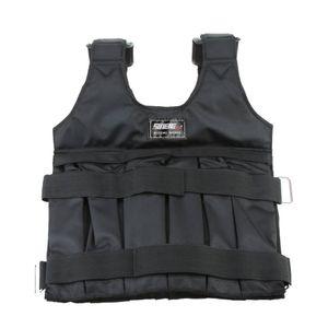 Max Loading 50kg einstellbare gewichtete Weste Gewicht Jacke Übung Boxen Training Weste unsichtbarE Gewichtloading Sand Kleidung (leer)