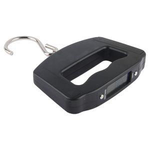 Digitale LCD Kofferwaage Handwaage Hängewaage Gepackwaage mit stabilem Haken auf 10g genau bis max. 50kg Gewicht mit Hintergrundbeleuchtung