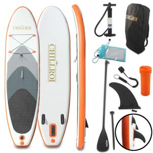 CHILLROI Stand-Up Paddling Board Set Aufblasbares SUP-Board Surfboard 297 cm