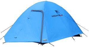 High Peak Kuppelzelt 2 Personen für Camping und Outdoor, schneller Aufbau, 1.500 mm Wassersäule, inkl. leichtem Packsack, Blau-grau