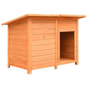 Perfekt® Hundehütte,Outdoor Hundehaus für große Hunde,Platz für ein Hundebett, Kiefernholz & Tannenholz 120x77x86 cm🍹1586
