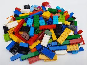 Lego© Steine 200 bunt gemischte originale basic Bausteine, z.B. rot gelb grün blau weiß schwarz *neu und unbespielt*
