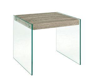 HAKU Möbel 87795 Beistelltisch 40 x 35 x 35 cm, eiche trüffel
