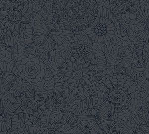 A.S. Création Vliestapete Club Tropicana Tapete metallic schwarz 10,05 m x 0,53 m 358162 35816-2