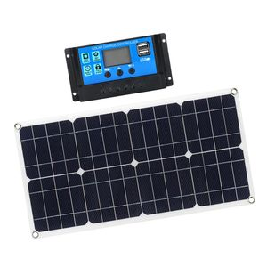 100W Solar Panel Solar Charger Foldable Portable Charger with 10A Solar Charge Controller for Caravan Boat