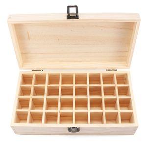 32 Slots Aromas Holz Aufbewahrungsbox Aufbewahrungskoffer für ätherische Öl