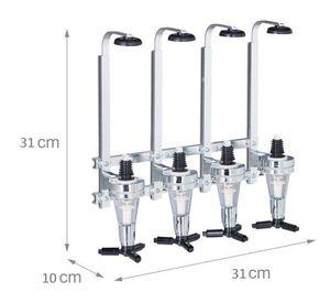 Wanddispenser / Getränkeautomat - Stangenbutler für 4 Flaschen - Aluminium