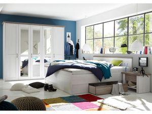 """Schlafzimmer Komplett-Set Schlafzimmerprogramm Schlafzimmermöbel """"Lebbie I"""""""