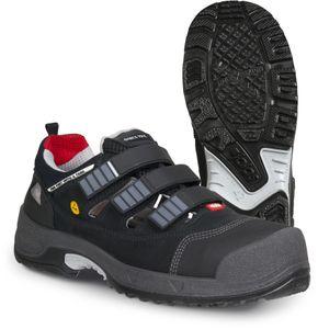 Jalas 3008, Unisex, Safety boots, Schwarz, Grau, Rot, EUE, CE, EN ISO 20345:2011, S1 P SRC, Leder, Polyurethan (PU)
