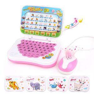 Lern und Musik Laptop, Zweisprachige frühe pädagogische Lernmaschine Kinder Laptop Spielzeug mit Maus Lernspielzeuge für Baby