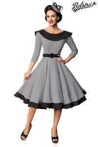 Premium Vintage Swing-Kleid, Farbe: Weiß/Schwarz, Größe: L