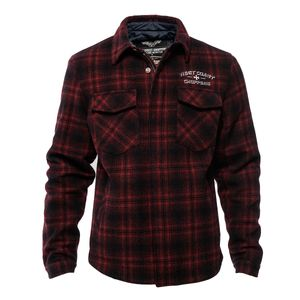 WCC West Coast Choppers Jacked Quilted Gang Red/Black-XXXXL