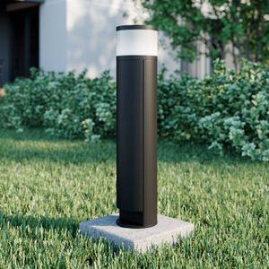 Lucande Corban Sockelleuchte Steckdosensäule LED Aluminium IP44 Außenbereich