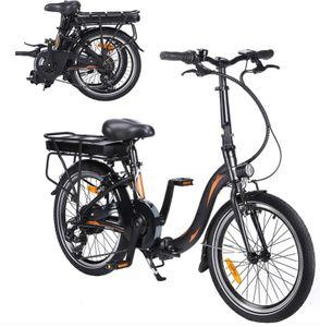 FAFREES 20F054 250W E-Bike 36V 10AH Klappbares Elektrofahrrad 20 Zoll Montainbike 25KM / H Citybike LCD Dispaly Maximallast 120kg-Schwarz und Grün