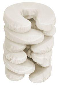 Master Massage Bezüge für Kopfpolster Gesichtskissen 100% Baumwolle Waschbar 6er Pack-Naturfarbe Beige