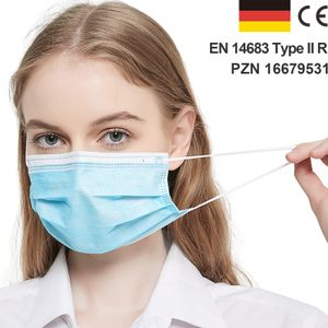 BerkeMed Chirugische OP Maske nach EN 14683 Typ IIR (50 Stück)