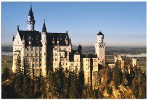ARTland Alubilder Schloss Neuschwanstein Alubild Größe: 60x40 cm