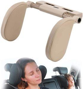 Verstellbare Autokopfstütze(hellgelb) für Kinder/Erwachsene, Kissen Nackenstütze/Kissenhalsstütze /bei Autositz