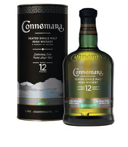 Connemara 12 Jahre Peated Single Malt Irish Whiskey in Geschenkpackung   40 % vol   0,7 l