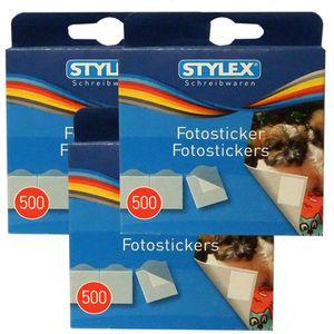 1500 (3 x 500) Fotosticker Fotokleber für Foto Album, Stylex