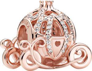 Pandora Disney Charm 789189C01 Cinderella Pumpkin Coach Pandora Rose clear cubic zirconia