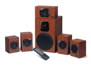 Genius SW HF5.1 4800, 5.1 Kanäle, 125 W, PC, Schwarz, Holz, 40 - 20000 Hz, 90 dB