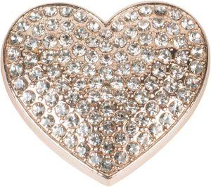 styleBREAKER Damen Magnet Schmuck Brosche in Herz Form mit Strass, für Schals, Tücher oder Ponchos, Anhänger 05050081, Farbe:Rosegold