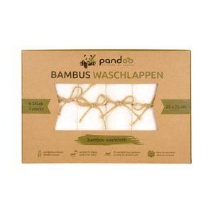 6 Bambus-Waschlappen