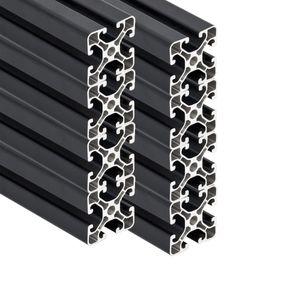 PremiumX 8x 2000mm Aluminium Profil Aluprofil 40x40 mm Nut 8 Strebenprofil Anthrazit