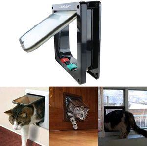 Vierwegeschloss-Katzenklappe für Jungtiere und kleine Haustiere, 16 x 15,7 x 5,5 cm