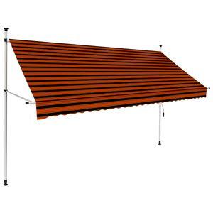 vidaXL Einziehbare Markise Handbetrieben 300 cm Orange und Braun