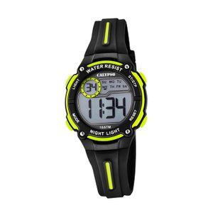 Calypso Kunststoff PUR Kinder Uhr K6068/5 Armbanduhr schwarz Digital D2UK6068/5