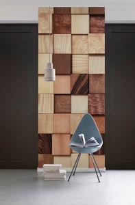 "Komar Digitaldruck Vlies Panel ""Lumbercheck"" 100 x 280 cm, braun, 978-DV1"